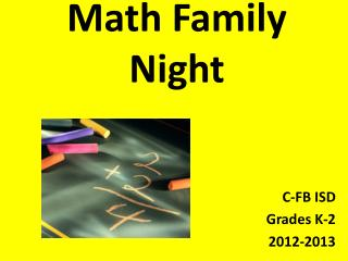 Math Family Night