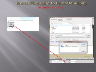 BrowsePhoto.php  to  PhotoDetail.php