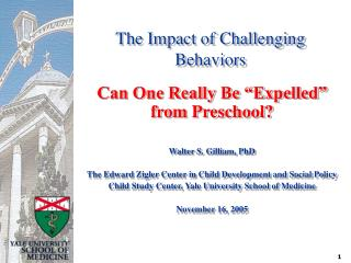 The Impact of Challenging Behaviors
