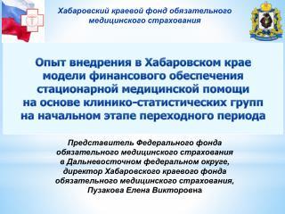 Опыт внедрения в Хабаровском крае
