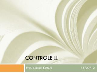 CONTROLE  II