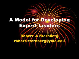 A Model for Developing Expert Leaders