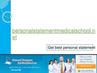 Personal Statement Medical School