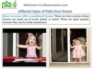 Different Types of Patio Door Screen