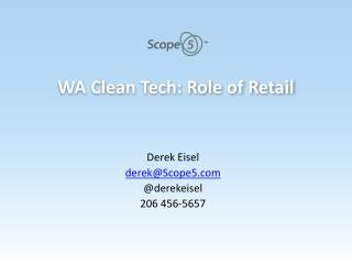 WA Clean Tech: Role of Retail