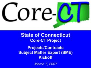 State of Connecticut Core-CT Project Projects