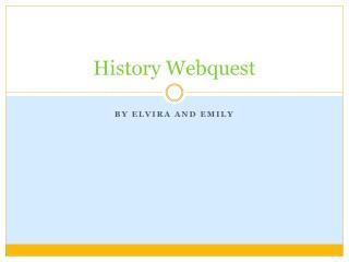 History Webquest