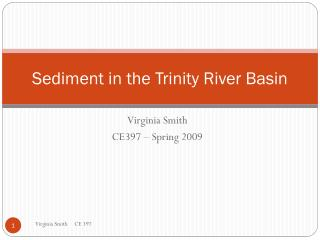 Sediment in the Trinity River Basin