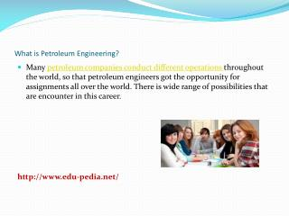 What is Petroleum Engineering?