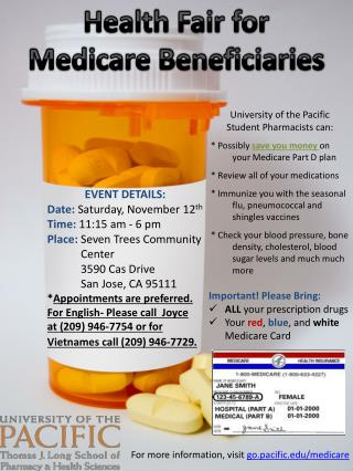 Health Fair for  Medicare Beneficiaries