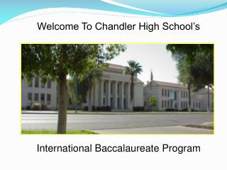Welcome To Chandler High School�s