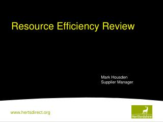 Resource Efficiency Review