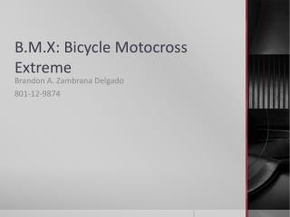 B.M.X: Bicycle Motocross Extreme