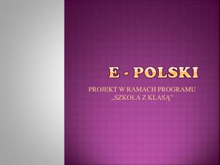 e - polski