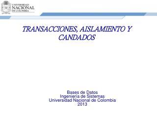 TRANSACCIONES, AISLAMIENTO Y CANDADOS