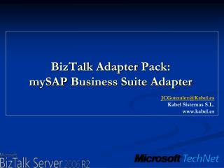 BizTalk  Adapter  Pack: mySAP  Business Suite  Adapter