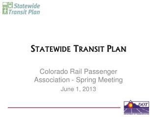 Statewide Transit Plan