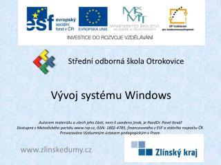 Vývoj systému Windows