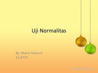 Uji Normalitas