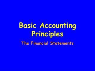 Basic Accounting Principles