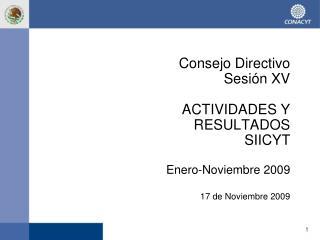 Consejo  Directivo Sesión  XV