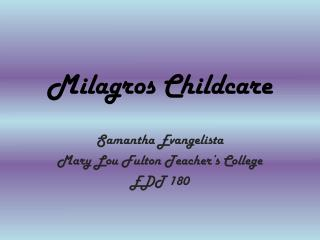 Milagros Childcare