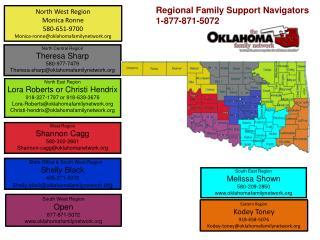 Map of Regional Coordinators