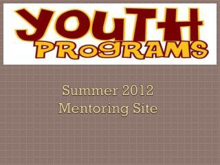 Summer 2012 Mentoring Site