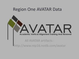Region One AVATAR Data
