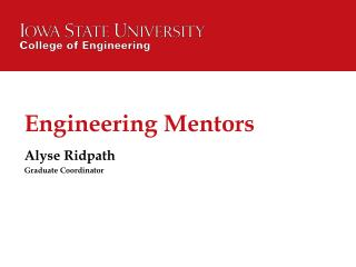 Engineering Mentors