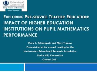 Mary E. Yakimowski and Mary Truxaw Presentation at the annual meeting for the