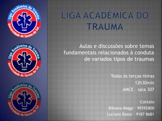 LIGA ACADÊMICA DO TRAUMA
