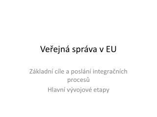Veřejná správa v EU