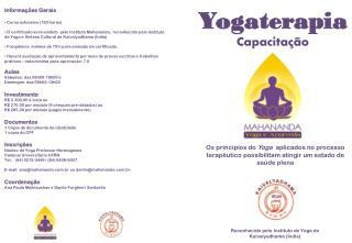 Yogaterapia Capacitação