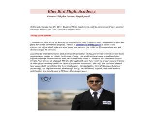 Pilot training at Blue Bird flight Academy