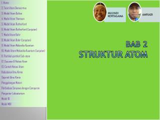 Bab  2  STRUKTUR ATOM