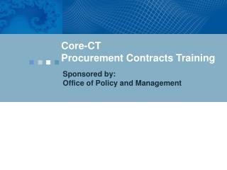 Core-CT Procurement Contracts Training