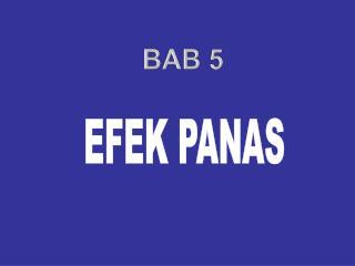 EFEK PANAS