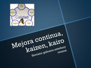 Mejora continua,  kaizen ,  kairo