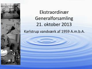 Ekstraordinær Generalforsamling  21. oktober  2013