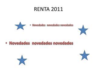 RENTA 2011
