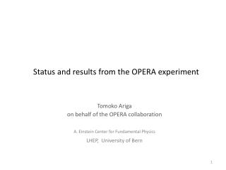 Status and results from the OPERA experiment