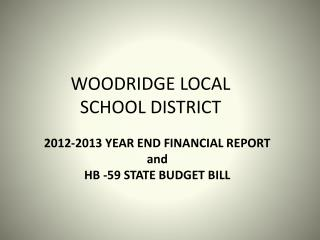 WOODRIDGE LOCAL SCHOOL DISTRICT