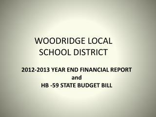 WOODRIDGE LOCAL SCHOOL DISTRICT