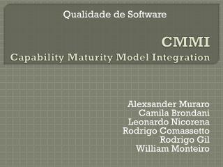 CMMI Capability Maturity Model Integration