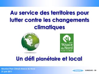 Au service des territoires pour lutter contre les changements climatiques