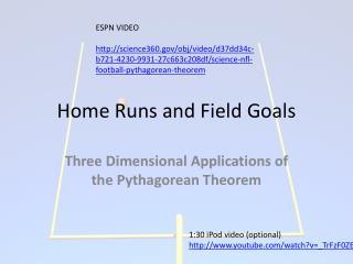 Home Runs and Field Goals