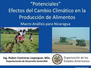 Ing. Ruben Contreras Lisperguer, MSc. Departamento de Desarrollo Sostenible