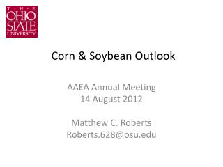 Corn & Soybean Outlook