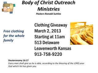 Body of Christ Outreach Ministries Pastors Ronald  Suttles